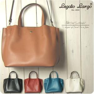 Legato Largo レガートラルゴ ショルダーバッグ レディース 軽量 ボンディングフェイクレザー 2WAY トートバッグ|sandybrown
