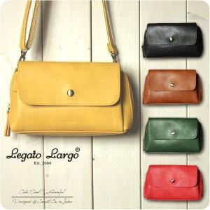 Legato Largo レガートラルゴ ショルダーバッグ レディース ポリッシュフェイクレザー お財布ミニショルダーバッグ|sandybrown