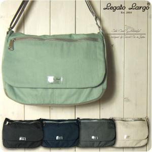 Legato Largo レガートラルゴ ショルダーバッグ レディース 撥水マットナイロンツイル 10ポケット フラップショルダーバッグ メッセンジャー|sandybrown