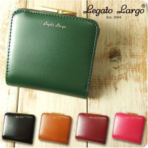 財布 レディース 二つ折り財布 シャイニーフェイクレザー がま口 Legato Largo レガートラルゴ ミニ財布|sandybrown
