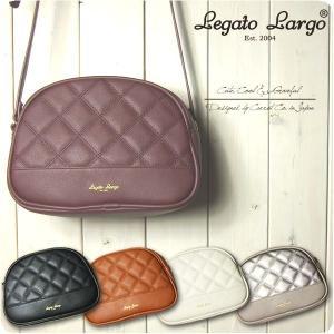 Legato Largo レガートラルゴ ショルダーバッグ レディース ルティングフェイクレザー ハーフムーン型 ミニショルダー|sandybrown