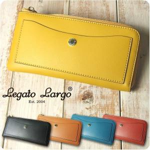 財布 レディース 長財布 軽量ボンディングフェイクレザーL字ファスナー 薄マチ Legato Largo レガートラルゴ|sandybrown