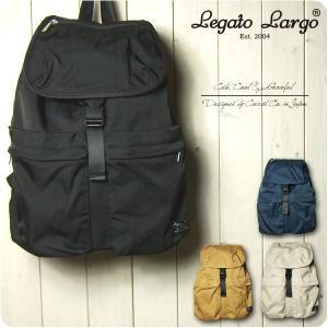 Legato Largo リュック レディース 撥水マットナイロンツイル 10ポケット フラップ リ...