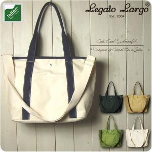 Legato Largo レガートラルゴ ショルダーバッグ レディース テフロン加工キャンバス 2WAY A4 トートバッグ|sandybrown
