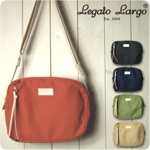Legato Largo レガートラルゴ ショルダーバッグ レディース 撥水加工コットン調ポリエステ...
