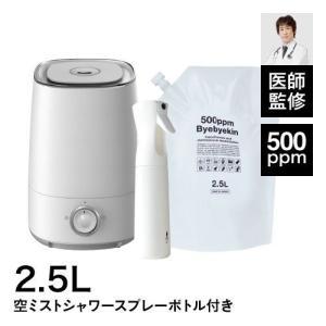 次亜塩素酸水 対応 噴霧器 加湿器 New バイバイ菌 超音波加湿器 (6ケ月保証付き)