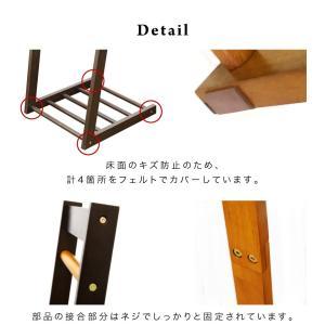 ハンガーラック 幅30cm 天然木製 おしゃれ スリム L字型|sangostyle|06