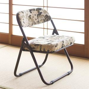 高座椅子 軽量 折りたたみ 高座椅子 折り畳み 座椅子 和座椅子 いす チェア ゴブラン柄 法事 彼岸 正座|sangostyle