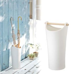 傘立て 陶器 ホワイト 白 おしゃれ 木製 傘立て 北欧 丸 型|sangostyle