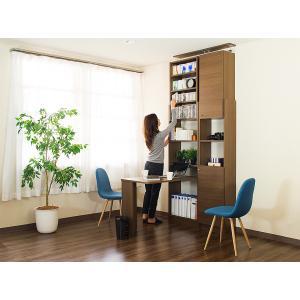 耐震本棚 天井突っ張り本棚 薄型本棚 幅45 奥行19|sangostyle|12