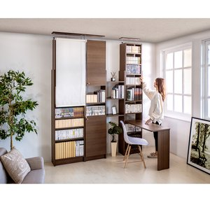 耐震本棚 天井突っ張り本棚 薄型本棚 幅45 奥行19|sangostyle|16