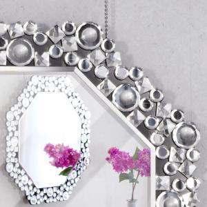 卓上・壁掛けミラー 豪華高級クリスタル調装飾|sangostyle