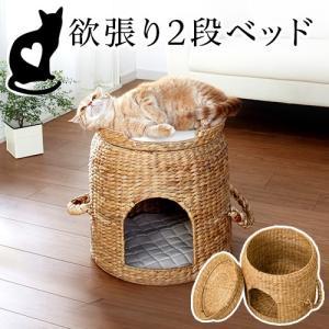 猫ちぐら ベッド付き 猫ハウス 猫用ベッド 天然素材 猫つぐら カゴ籠かご