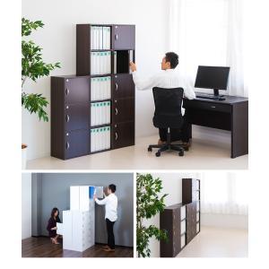 A4本棚 鍵付き収納ボックス 3段カラーボックス 扉付き sangostyle 13