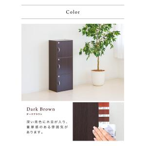 A4本棚 鍵付き収納ボックス 3段カラーボックス 扉付き sangostyle 18