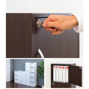 A4本棚 鍵付き収納ボックス 3段カラーボックス 扉付き sangostyle 08