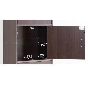 A4本棚 鍵付き収納ボックス 5段カラーボックス 扉付き|sangostyle|21