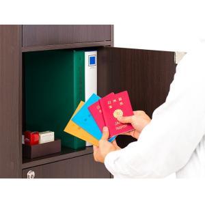 A4本棚 鍵付き収納ボックス 5段カラーボックス 扉付き|sangostyle|06