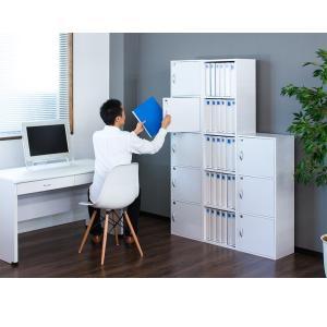 A4本棚 鍵付き収納ボックス 5段カラーボックス 扉付き|sangostyle|07