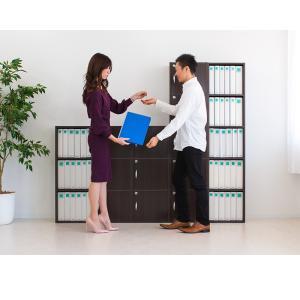 A4本棚 鍵付き収納ボックス 5段カラーボックス 扉付き|sangostyle|09