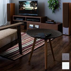 サイドテーブル スマホテーブル 北欧 おしゃれ 丸型 天然木製