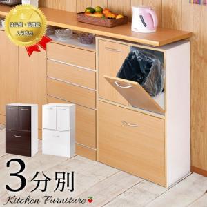 キッチンゴミ箱 スリム ダストボックス 3分別 ごみ箱|sangostyle