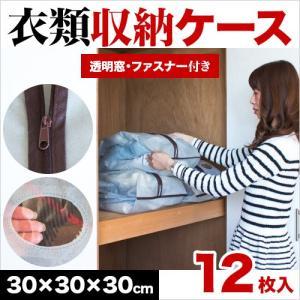 衣類整理袋 12枚 セット ファスナー付き 不織布|sangostyle