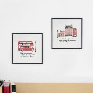 アート ポスター インテリア 高級感 額縁 デザイン おしゃれ モダン 北欧 アルミ製フレーム付 アルミアートフレームアイ・ラブ・ロンドン 277×277|sangsanghoo-jp