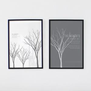 アートポスター インテリア用 北欧 フレーム付デザイナーズ おしゃれ モノトーン アートフレーム 午後(大)