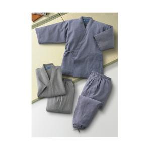 綿混くつろぎ作務衣 上下2色組 - サンライズクラブ