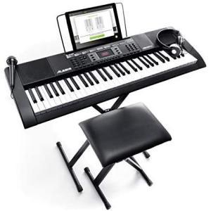 61鍵 888M Alesis 電子キーボード 61鍵盤 初心者セットIの画像