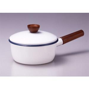 ホーロー鍋 エジリー 『ベイシッククアトロ 18cm片手鍋 』  IH対応 日本製|sankitrd