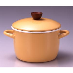 ホーロー鍋 エジリー『ベイシッククアトロ 20cm深型鍋 』  IH対応 日本製|sankitrd