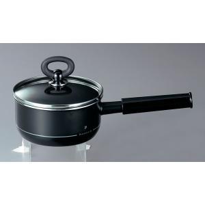 ホーロー鍋 エジリー  プレミアム・ブラック 『16cm片手鍋』 IH対応 日本製|sankitrd