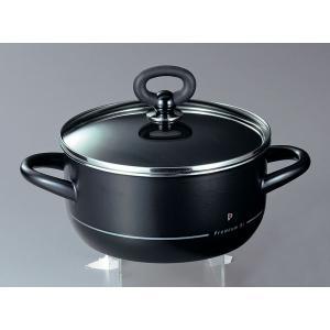 ホーロー鍋 エジリー  プレミアム・ブラック 『20cm両手鍋』 IH対応 日本製|sankitrd