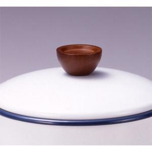 ホーロー鍋 ベイシッククアトロ片手鍋・両手鍋用木製つまみ|sankitrd
