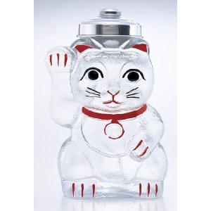 昭和初期のレトロガラスを再現!昭和レトロシリーズ 『招き猫 菓子ビン 』 sankitrd