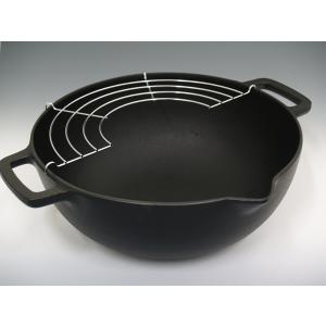 南部鉄器 天ぷら鍋 深型 24cm 岩鋳 日本製