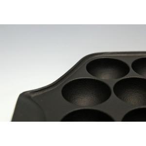 南部鉄器 たこ焼き器 『 たこやき23穴 』  IH対応(100-200V) ※直火もOK 岩鋳 日本製|sankitrd|04
