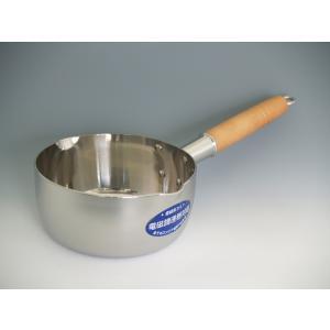 3層ステンレス鍋 『電磁板さん15cm』 (3層ステンレス製 雪平鍋)|sankitrd