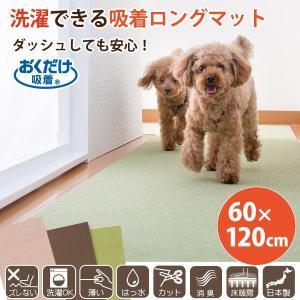 ペット用床保護マット 60×120cm ロングマット おくだけ吸着 足腰負担軽減 洗える 養生 サンコー|sanko-online