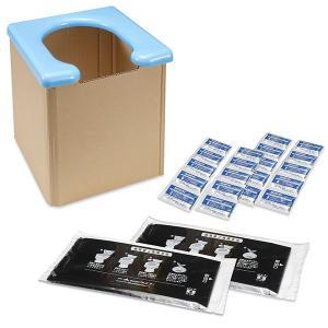 簡易トイレ 防災 備蓄 凝固剤20回分セット 災害用 非常用 地震 断水 トイレ ポータブル 介護 ...