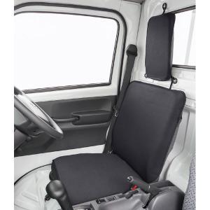 【送料無料】新タイプ デカ枕対応 軽トラック用防水シートカバーウォーターストップ(1席分入り・ブラック) ウエットスーツ素材使用|sanko-proshop