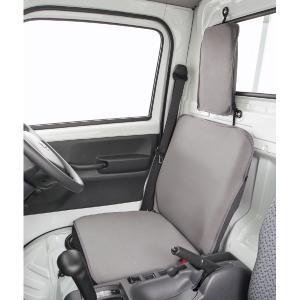 【送料無料】新タイプ デカ枕対応 軽トラック用防水シートカバーウォーターストップ(1席分入り・グレー) ウエットスーツ素材使用|sanko-proshop