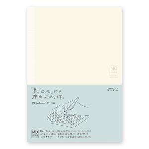 MDノート A5 方眼罫 180度開き 糸かがり綴じ しおり紐付き 176ページ MIDORI ミド...
