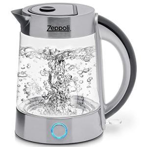 Zeppoli Electric Kettle (BPA Free) (1.7L) ゼポリ・エレクトリック・ケトル BPAフリー 電気ケトル ガラス|sanks-store