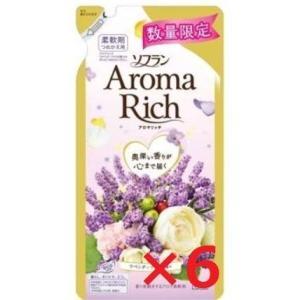 ソフラン アロマリッチ 柔軟剤 ラベンダーの香り 詰め替え430ml6個 sanks-store