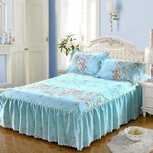 Orara beauty 独特のデザインベッドスプレッド 柔らかいベッドスカート シングル、ダブるベ...