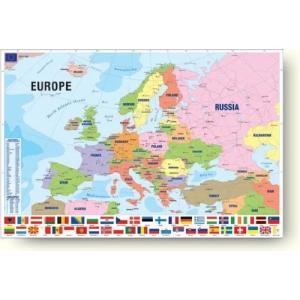 現代ヨーロッパ地図 Modern Map of Europe ウォールポスター