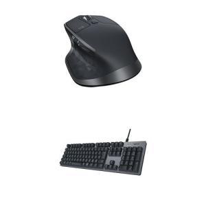ロジクール 有線メカニカルキーボード K840 + ワイヤレスレーザーマウス MX2100sGR M...
